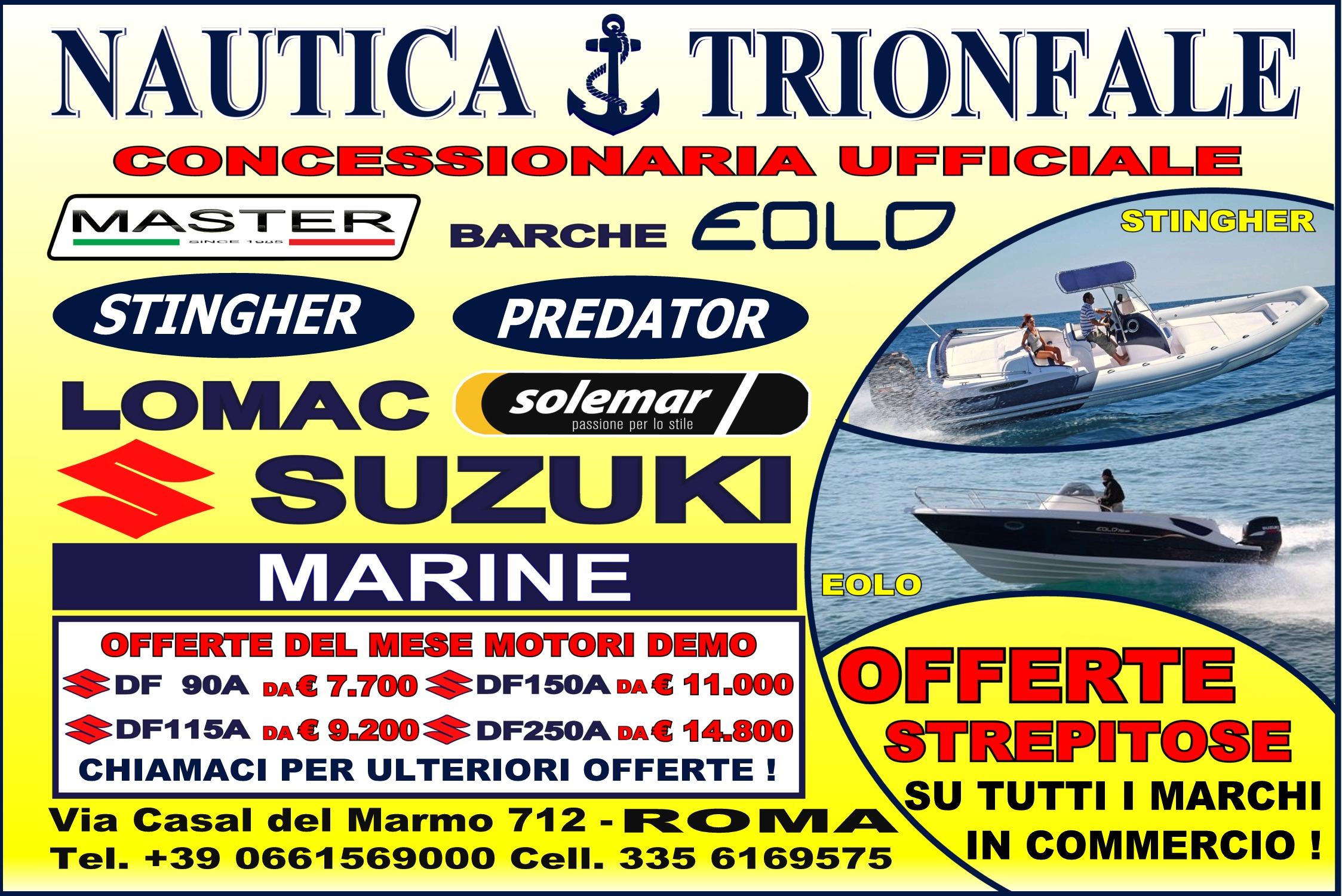 Nautica trionfale roma - offerte barche e gommoni roma 2018